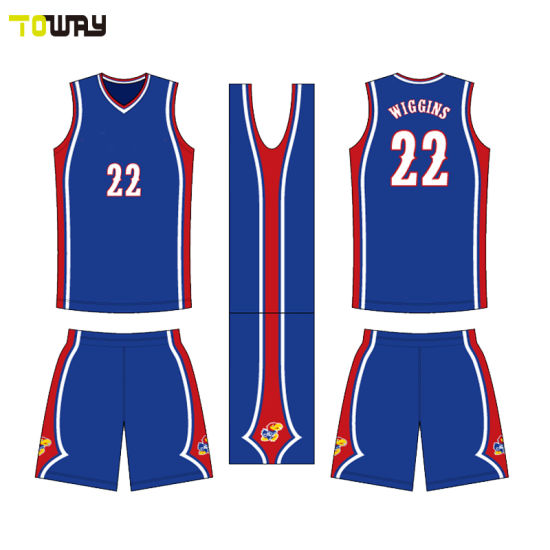 e4eb5ea669a China Custom Red White Blue Color Dri Fit Basketball Jersey - China ...