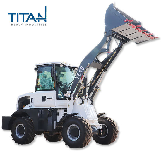 Factory Titan Europe Zl16f 1.6ton Chinese Small Compact Garden Farm Tractor Front End Mini Wheel Loader with Ce Proved