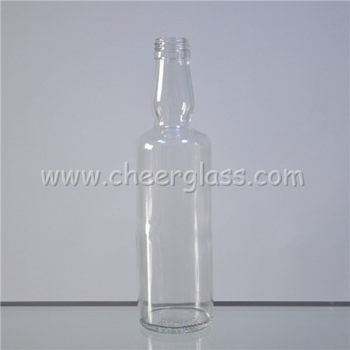 350ml Emerald Green Glass Beverage Bottle with Screw Finish pictures & photos