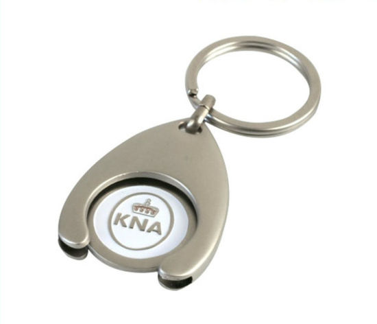 Hot Sale Custom Silver Color Holder Keychain with Trolley Coin (YB-MK-03)