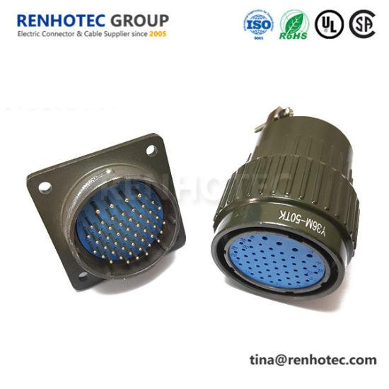 Military Circular Plug Socket Y2m Series Y36m 50 Pin Aviation Connector Plug