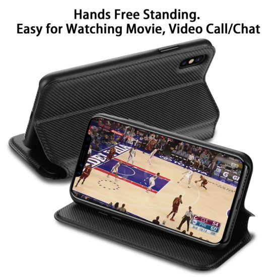iPhone X Flip Case Cover for iPhone X Leather Card Holders Premium Business Kickstand Cell Phone Cover with Free Waterproof-Bag Business