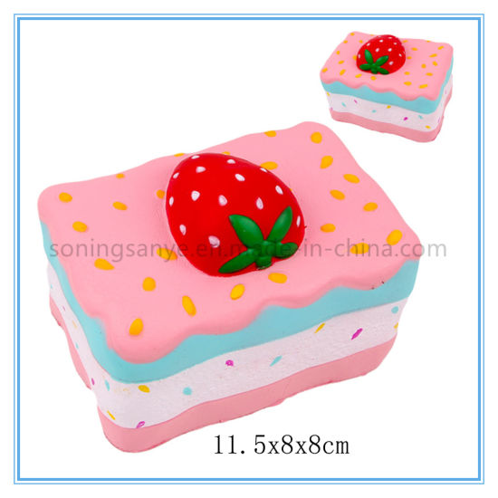DTY0085 Cute Super Soft Strawberry Cake Slow Rising Squishy Toy