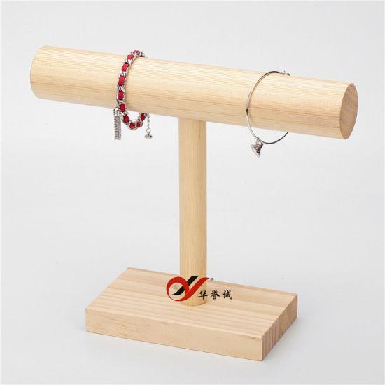 Diy Wood Display T Bar Watch Bracelet Jewelry Display Stand Holder