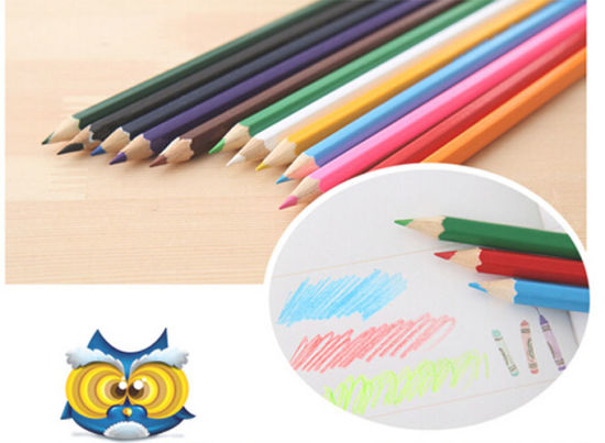 24 PCS Color Pencil in Plastic Case Tube Holder pictures & photos