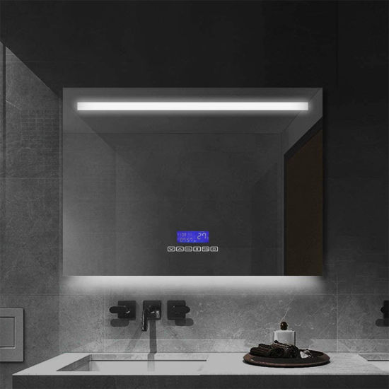 Wall-Mounted Bathroom Vanity Mirror with LED Lights