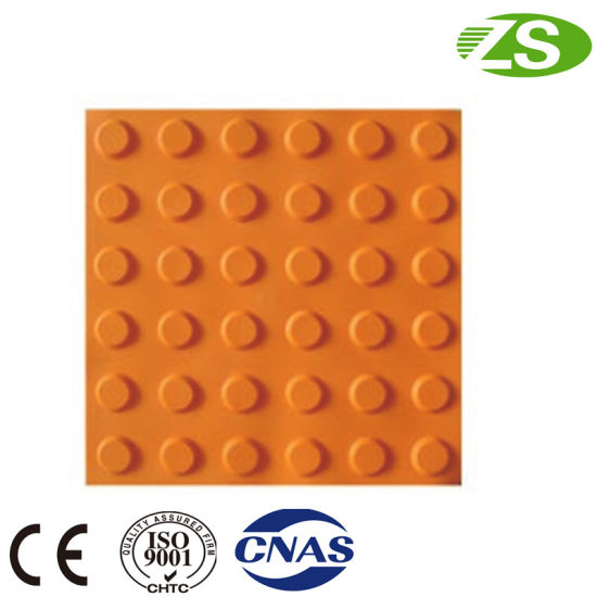 Hot Sale Road Tactile PVC Floor Rubber Tiles for Blind pictures & photos