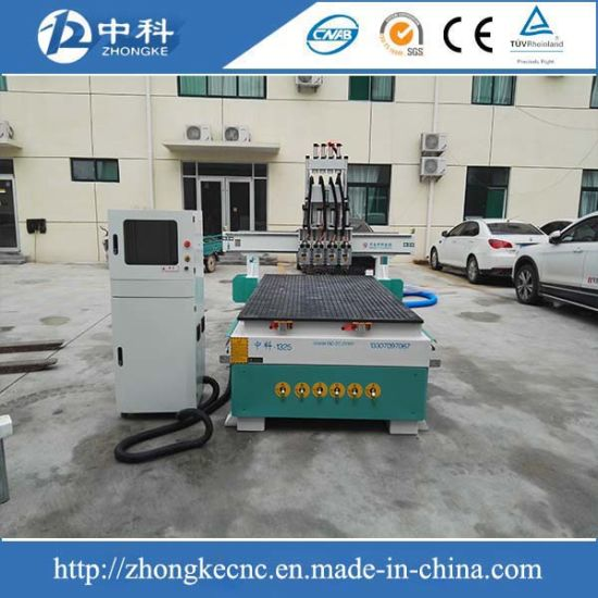 Automatic Tool Changer 4 Heads Wood CNC Router Machine pictures & photos