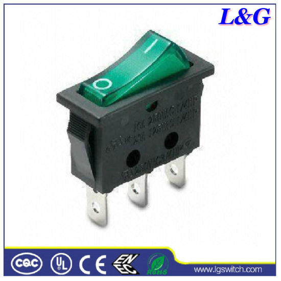 16a250v 3pin Illuminated Rocker Switch, Light Up Rocker Switch Wiring