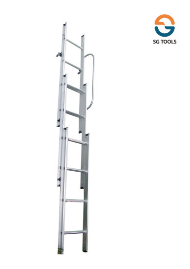 Three Section Aluminum Attic or Loft Ladder (SG-LA301)  sc 1 st  Hangzhou Shunguang Imp. u0026 Exp. Co. Ltd. & China Three Section Aluminum Attic or Loft Ladder (SG-LA301) - China ...