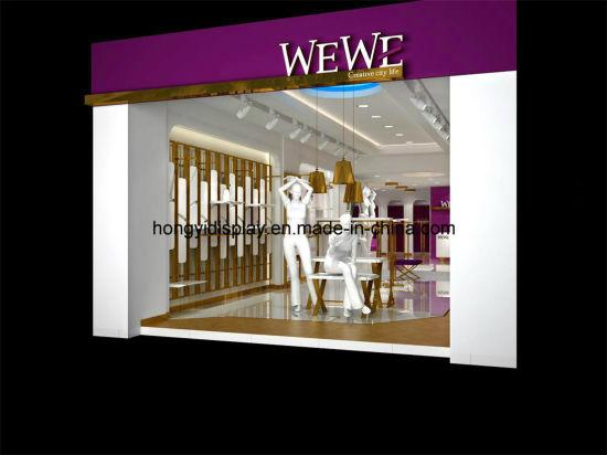 Ladies Garment Shopfront Display with Display Stand, Garment Rack