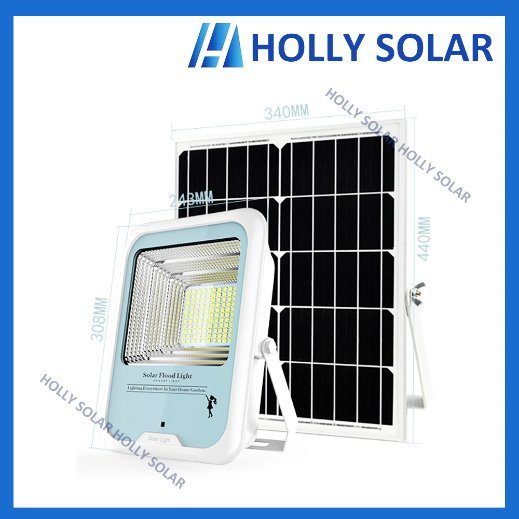 Solar LED Floodlight 18W Square Light with Remote Control