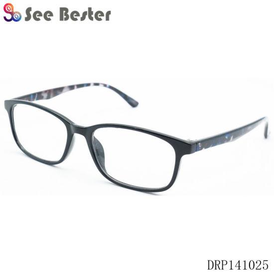 0d2b3bbf5f42 Pharmacy Unisex Eyeglasses Plastic Optical Reading Glasses with Demi Temples