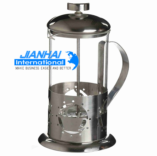 China Coffee Maker Glassware French Press Set With Pot And Cup