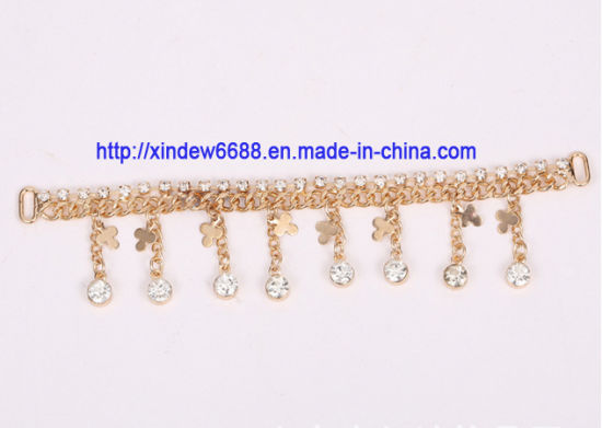 Shoe Chain Rhinestone Shoe Decoration for Women Shoe