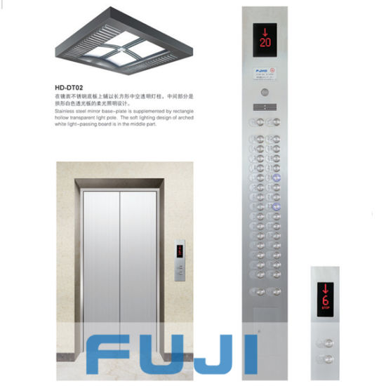 Passenger Elevator with Hairline Stainless Steel Car
