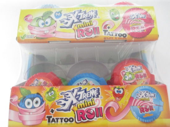 X Treme Tattoo Inside Mini Roll Gum pictures & photos
