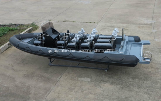Aqualand 29feet 9m Rigidn Inflatable Motor Boat/Rib Police Boat (RIB900B) pictures & photos