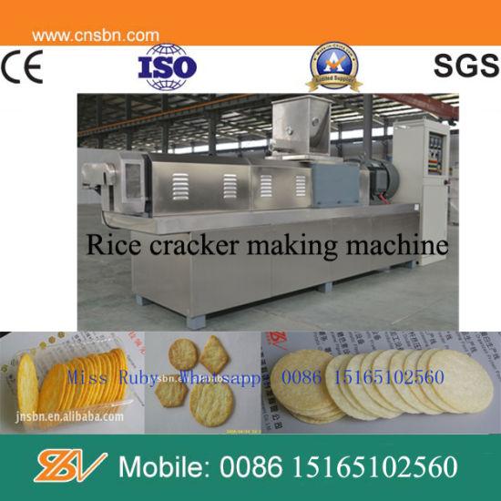 Automatic Industrial Thai Thin Rice Cracker Making Machine