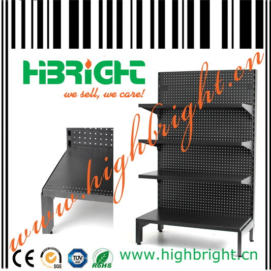 Pegboard Perforated Back Panel Supermarket Gondola Shelves pictures & photos