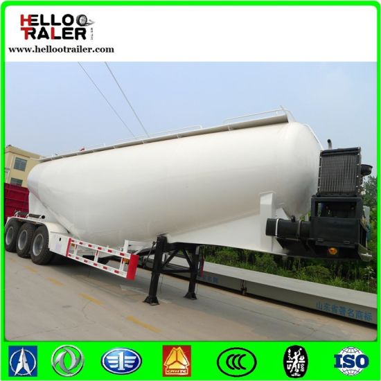 55cbm Wheat Flour Three Axles Bulk Cement Tanker Trailer pictures & photos