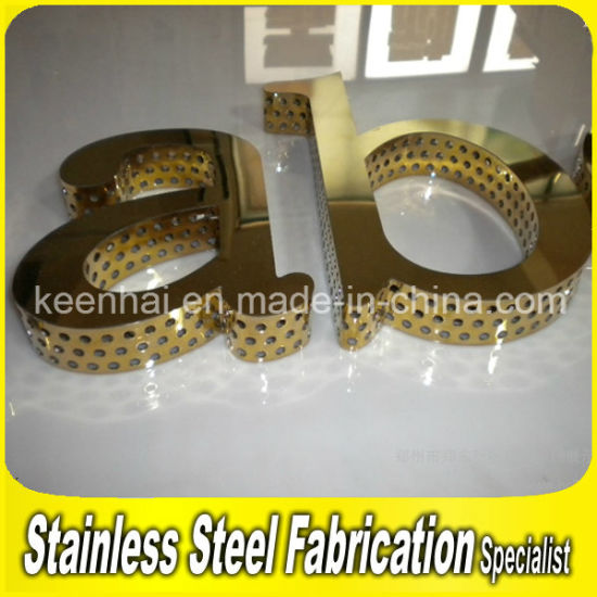 Advertising Customed PVD Color Coated 304 Stainless Steel Channel 3D Letter Sign Design pictures & photos