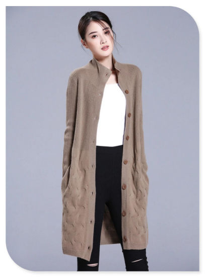 9ae4bbad35 China Ladies′ Knitwear Thick Pure Cashmere Knitting Stand Collar ...