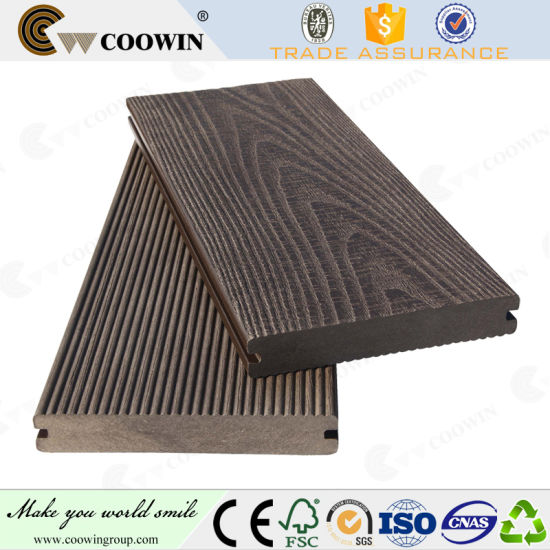 China Tongue And Groove 25mm Composite Wooden Plastic Anti Slip