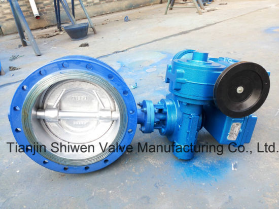 API/ANSI/DIN/JIS Cast Iron/Ductile Iron Double Flange Butterfly Valve pictures & photos