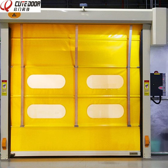 China Wholesale High Density PVC Industrial High Speed Stacking Door pictures & photos