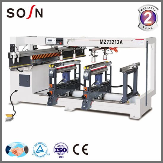 Drilling Holes Machine Three Lines Wooden Multi Spindle Drilling Machine