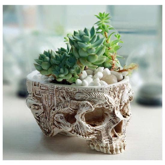Factory Skull Flower Jar Garden Lighting