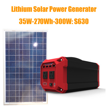 Lightweight 300W Solar Powered Generator for Home Use