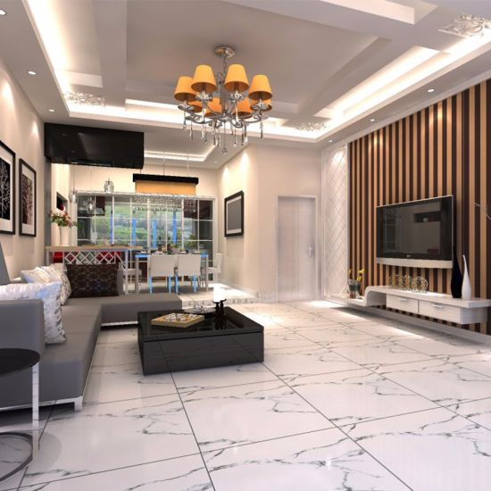 Foshan Competitive Price Floor Vitrified Porcelain Polished Crystal White Tile