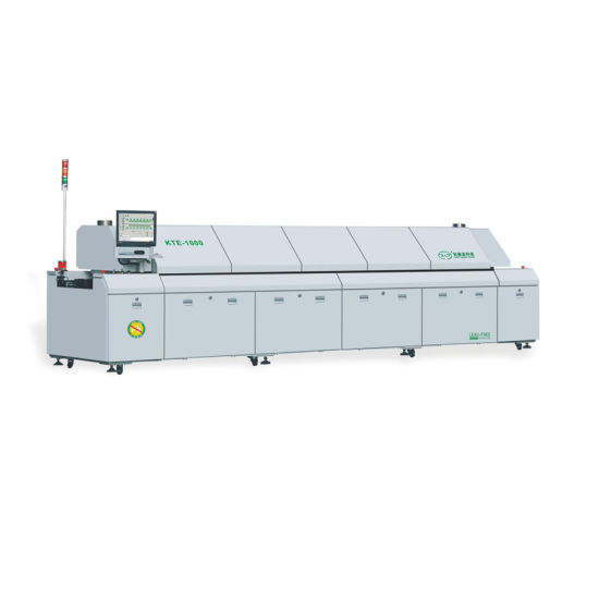 SMT Assembly Line Automatic PCB Soldering Machine 10 Zones Lead Free Reflow Oven Kte-1000