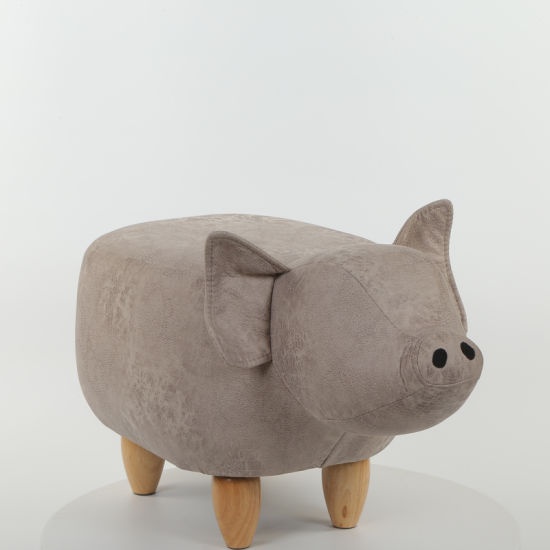 Home Furniture Pig Shoes Changing Wooden Stool Chair Footstool  Animal Shaped Ottoman Shoe Fitting Stool With Good Price
