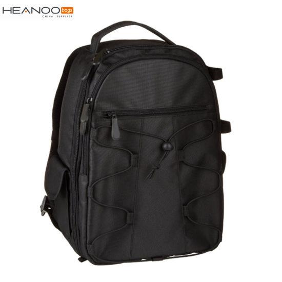 Black Basic Ergonomic Backpack Design Digital Compact DSLR Camera Bag