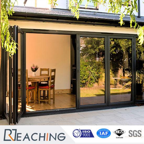China Interior Bifold Door Glass Folding Door Tempered Glass Sliding ...