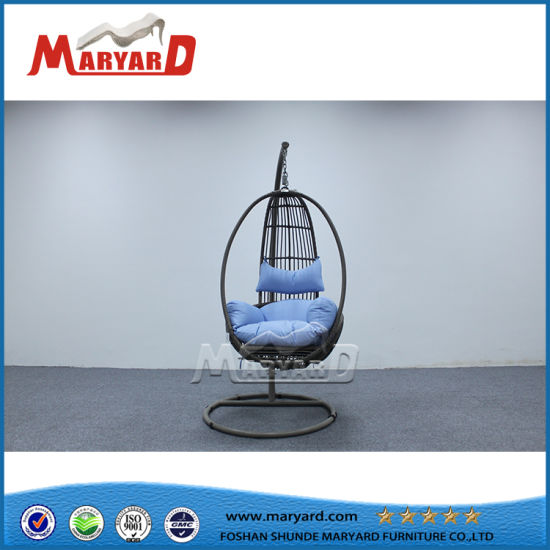 China Outdoor Patio Aluminum Frame Single Swing Chair China Rattan