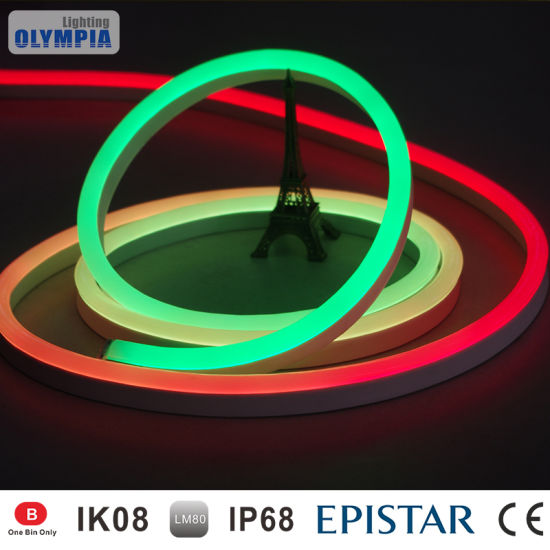 China dc24v color changing led rope light with 8 pixel every meter dc24v color changing led rope light with 8 pixel every meter aloadofball Image collections