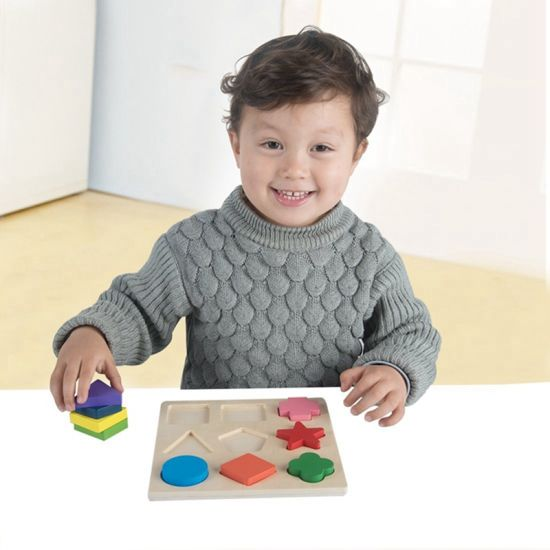 Children Wooden Shape Educational Jigsaw Puzzle Toys (GY-W0008)