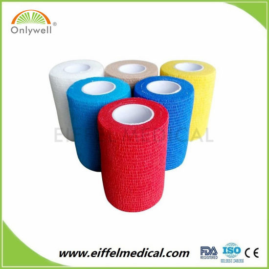 Competitive Price Various Colors Non-Woven Veterinary Cohesive Bandage pictures & photos