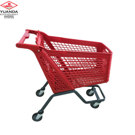 Supermarket New Design Plastic Shopping Cart High Quality Shopping Trolley