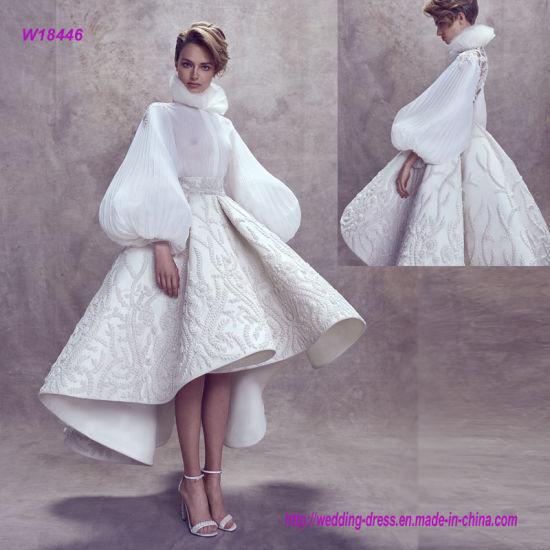 d9e1ddb9b China New Fashion Elegant Balloon Sleeves High Neckline Wedding Gown ...