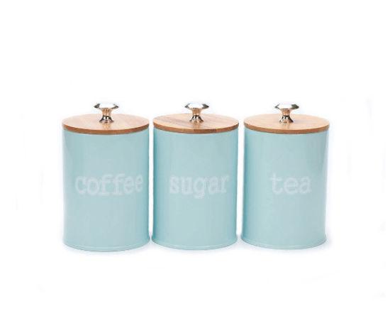 Metal Sugar Coffee Tea Tin Canister