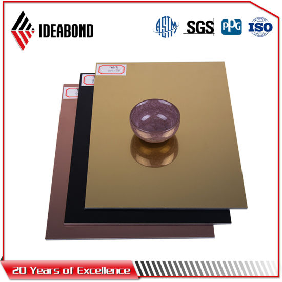 Ideabond 4mm Gold Mirror Finish Signboard Aluminum Composite Panel (AE-202) pictures & photos