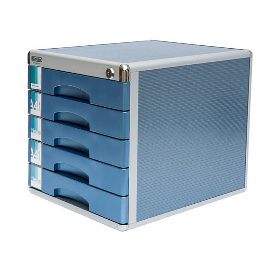 5 Drawers Metal Office Storage Cabinet With Security Lock