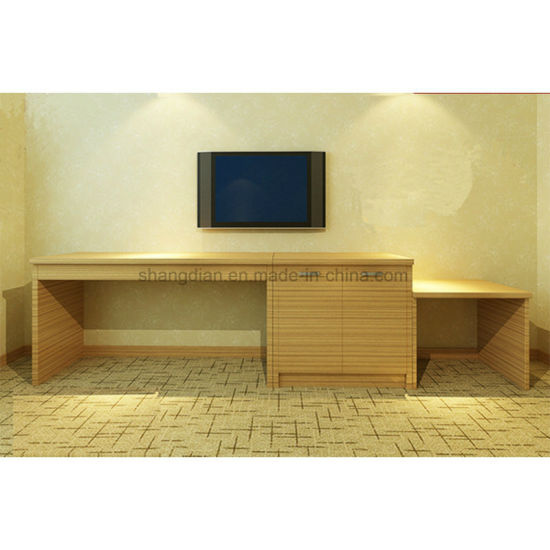 Plywood with Wood Veneer Finish High TV Cabinet (ST-04) pictures & photos