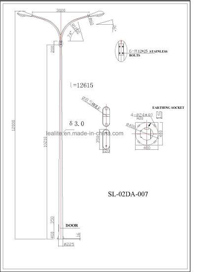 China Lighting Pole Double Arm Lighting Pole - China