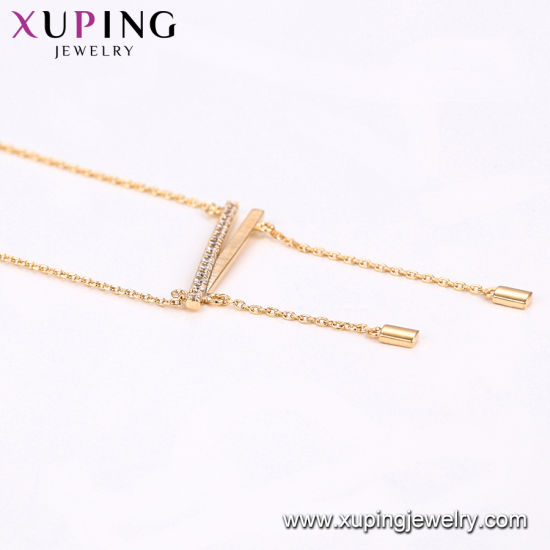 44102 Xuping Fashion 18K Gold Color Necklace pictures & photos